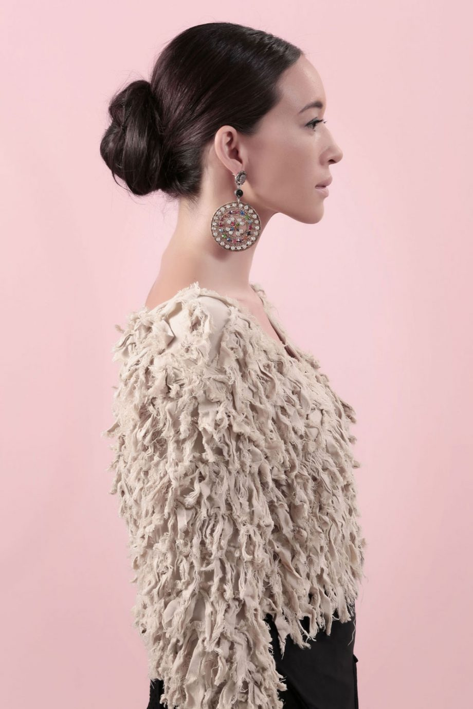 Glam earring model shoot 2