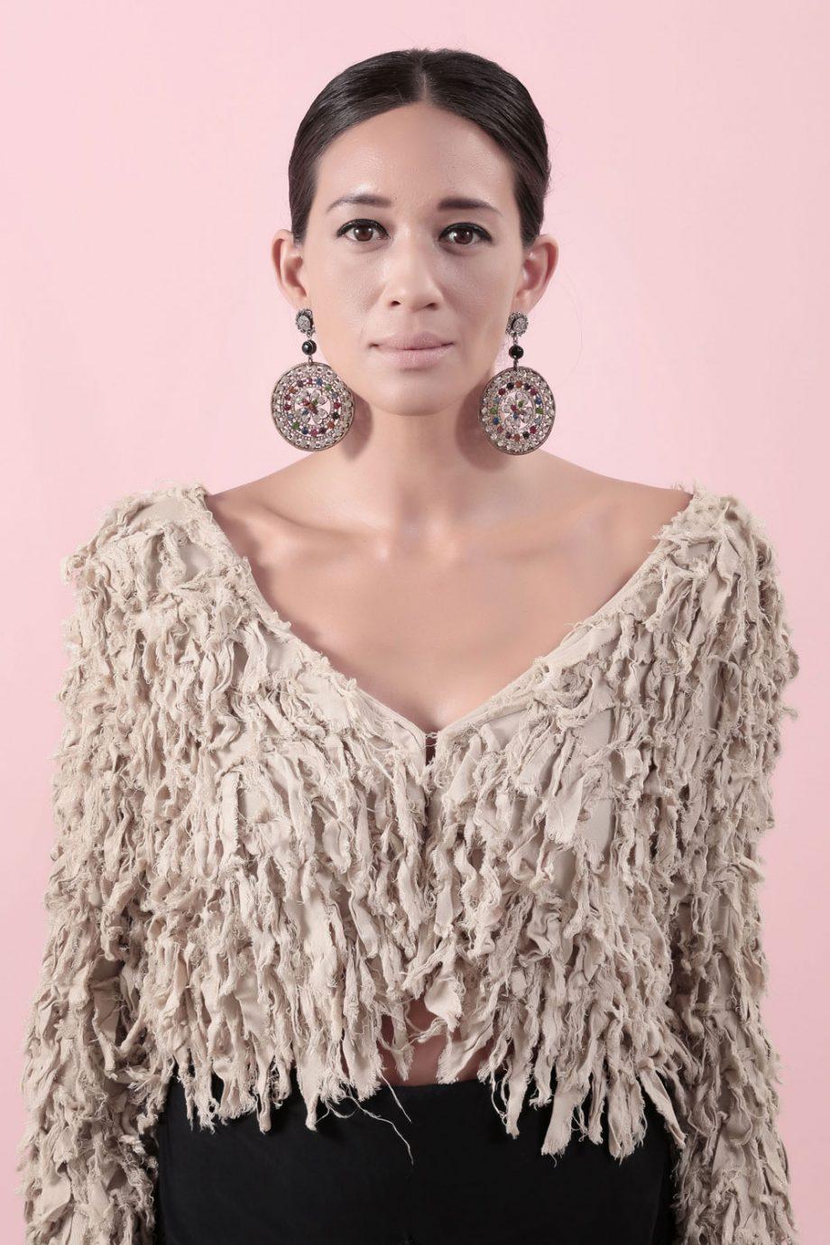 Glam earring model shoot 1